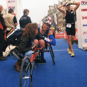 Spreker Maurice Wiegman Finish Ironman Challenge